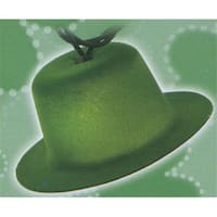 Green Derby Hat St. Patricks Day Novelty Lights - Green Wire,
