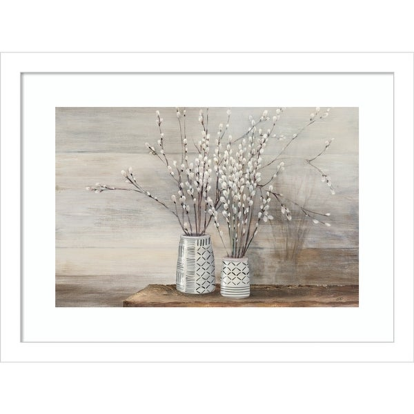 Willow Still Life with Designs by Julia Purinton Framed Wall Art Print. Opens flyout.