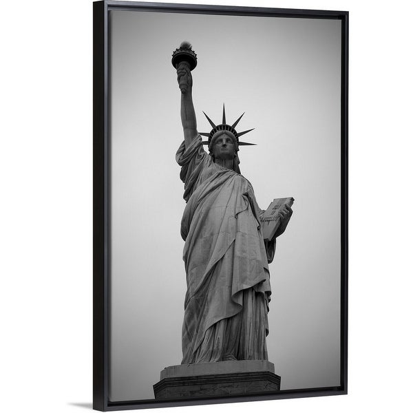 Shop The Novogratz Floating Frame Premium Canvas With Black Frame