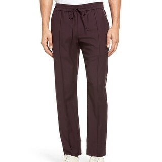 VINCE. Maroon Red Women's Size Large L Piped Wool Track Pants