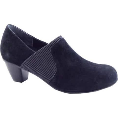 Drew Women's San Marino Pump Black Suede/Leather