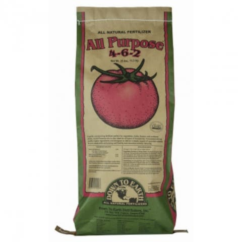 Down To Earth 01942 All Purpose Natural Fertilizer, 25 Lbs, 4-6-2