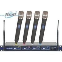 VocoPro UHF58009 Professional 4 Channel UHF Wireless Microphone System