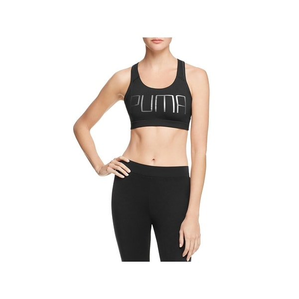5a39790618 Shop Puma Womens Forever Sports Bra Signature Solid - Free Shipping ...