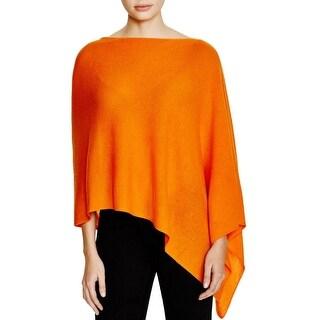Magaschoni Womens Poncho Sweater Cashmere Asymmetric - o/s