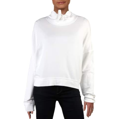 Free People Womens Lara Pullover Top Ribbed Trim Cowl Neck
