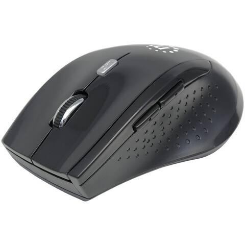Manhattan 179386 Curve Wireless Optical Mouse (Black)