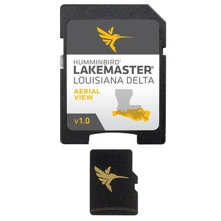 """Humminbird LakeMaster Louisiana Delta LakeMaster Aerial Satellite View - Louisiana Delta"""