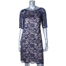 Vince Camuto Womens Lace Raglan Sleeves Cocktail Dress - 8