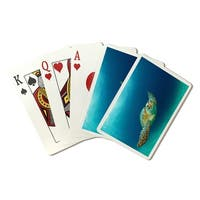 Sea Turtle - LP Photography (Playing Card Deck - 52 Card Poker Size with Jokers)