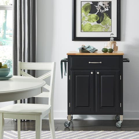 Black Dolly Madison Pre and Serve Cart - N/A