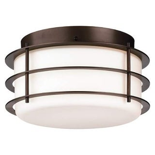 "Forecast Lighting F849268NV 2 Light 10"" Wide Flush Mount Ceiling Fixture from the Hollywood Hills Collection - Deep Bronze"