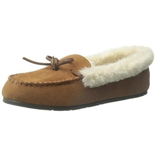 Clarks Womens Moc Roll Collar Suede Faux Fur Lined Moccasins