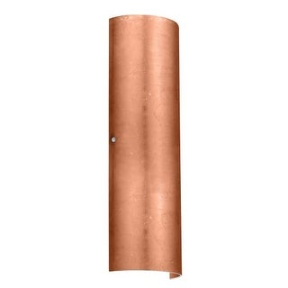 Besa Lighting 8194CF-LED Torre 2 Light ADA Compliant LED Wall Sconce with Copper Foil Glass Shade