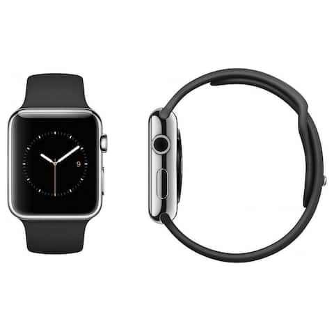 Apple Watch Series 2 42mm Silver Stainless Steel Case & Black Band (Refurbished)