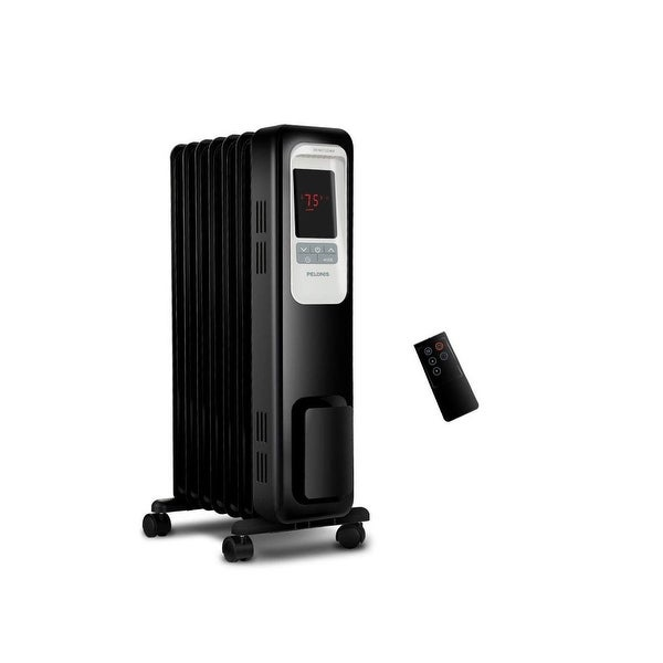 da8c5fc462b 1500-Watt Digital Oil-Filled Radiant Portable Heater with Remote Control  (refurbished)