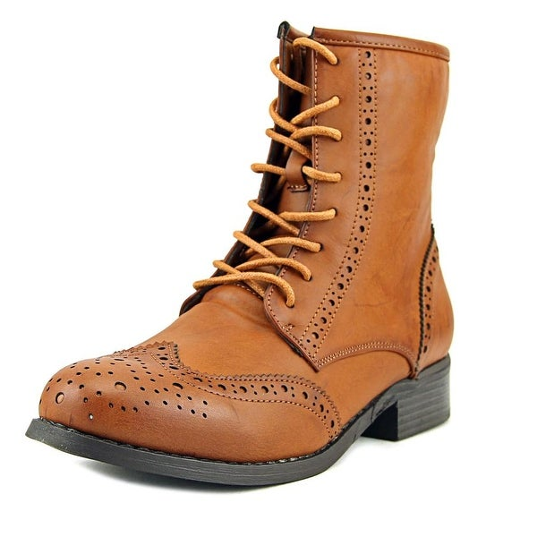 2dc0a700aad3 Shop Wanted Racks Women Round Toe Synthetic Tan Ankle Boot - Free ...