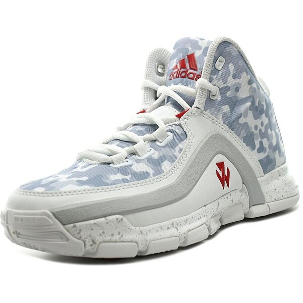 Adidas J Wall 2 J Youth Round Toe Synthetic White Basketball Shoe