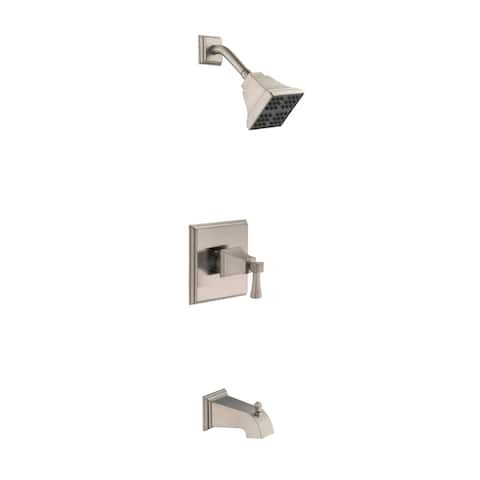 Design House 547471 Torino Tub and Shower Trim Package with 2 GPM Single Function Shower Head - Satin Nickel