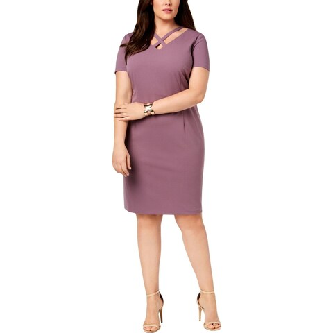 Connected Apparel Womens Plus Sheath Dress Party Sheath