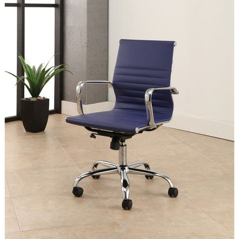 Abbyson Samuel Adjustable Leather Office Chair