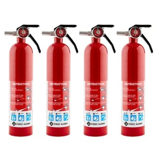 """First Alert Home Fire Extinguisher (4 Pack), Rated 1-A 10-B C, Model HOME1 - 3.3"""" x 3.3"""" x 14.3"""""""