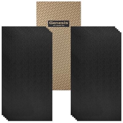 Genesis Stucco Pro Black 2 x 4 ft. Lay-in Ceiling Tiles