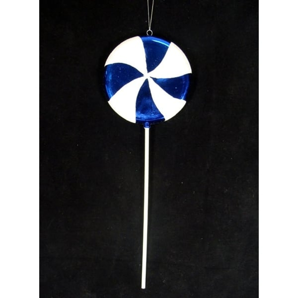 "Large Candy Fantasy Blueberry Swirl Lollipop Christmas Ornament Decoration 22"" - BLue"