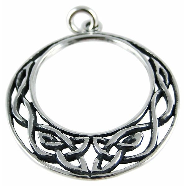 Sterling silver celtic moon pendant knotwork charm free shipping sterling silver celtic moon pendant knotwork charm aloadofball Choice Image