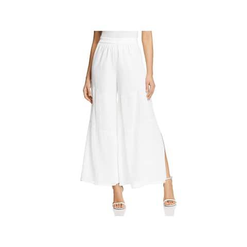 Kobi Halperin Womens Diana Wide Leg Pants Silk Blend Cropped