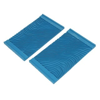 Unique Bargains MS13 Household Wall Art Paint Rubber Wood Graining Tool 21cmx12.3cm Blue 2pcs