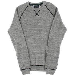 Buffalo David Bitton Mens Waffle Knit Heathered Pullover Sweater - XL