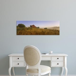 Easy Art Prints Panoramic Images's 'Barn in a field, Iowa County, near Dodgeville, Wisconsin, USA' Premium Canvas Art
