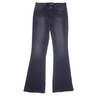 NYDJ Womens Farrah Mid-Rise Lift Tuck Flare Jeans - 2