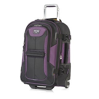 "Travelpro TPB2 Black/Purple22"" Polyester Fabric Expandable Rollaboard w/ Water Resistant Coating"