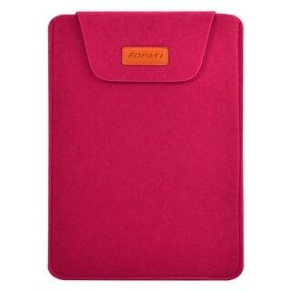 15.6 Wool Felt Protective Notebook Laptop Sleeve Bag for Macbook Fuchsia