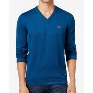 Hugo Boss NEW Blue Mens Size XL Lightweight V-Neck Pull-Over Sweater