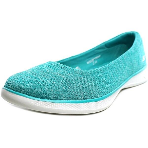 Skechers Go Step Lite Evoke Women Round Toe Canvas Blue Loafer