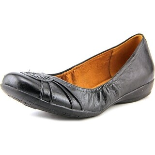 Naturalizer Ginger Women N/S Round Toe Leather Black Flats