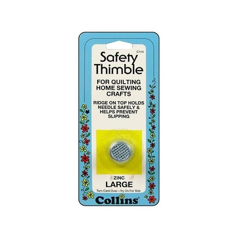 Collins Safety Thimble Zinc Large