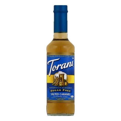 Torani Sugar Free Salted Caramel Flavoring Syrup, 12.7 OZ (Pack of 4)