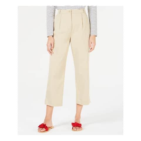 MAXMARA Womens Beige Straight leg Wear To Work Pants Size 10