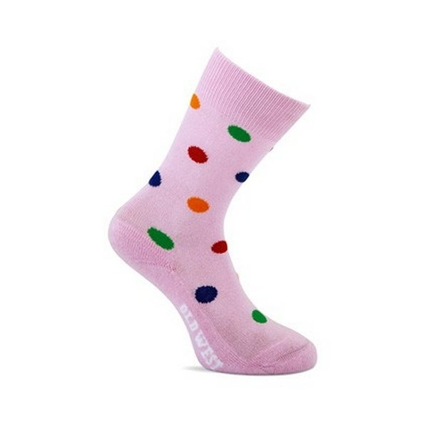 Old West Socks Girls Absorbs Cotton Cushioned Over Calf Pink
