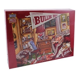 550 Piece Jigsaw Puzzle, Bulldog Dreams