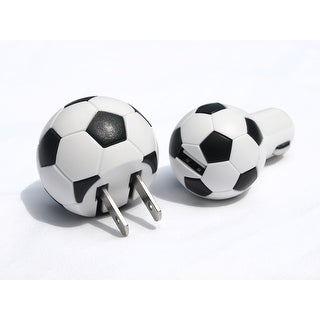 Soccer USB Charger Set For Car And Home