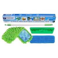 Fibermop Microfiber Cleaning Kit, 3 Pieces