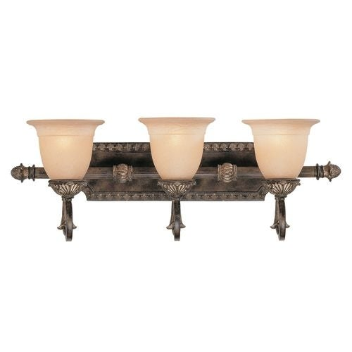 "Savoy House 8-749-3 Grenada 3 Light 28.75"" Wide Bath Bar with Cream Textured Shade - Thumbnail 0"