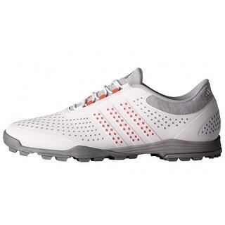 New Adidas Women's Adipure Sport Light Grey/Easy Coral/Dark Silver Met Golf Shoes Q44739