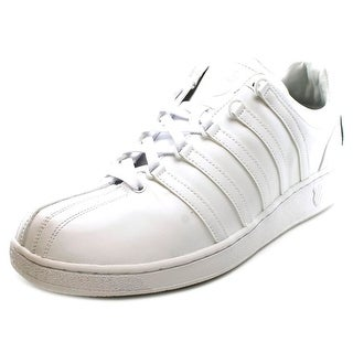 K-Swiss Classic Vn Bl Round Toe Leather Sneakers