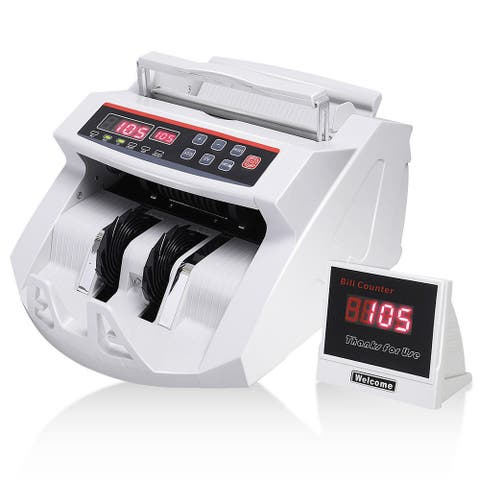 Costway Money Bill Counter Counting Machine Counterfeit Detector UV &
